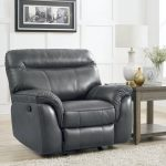 Black reclining Leather armchair